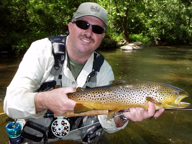 Bart with Brown Trout